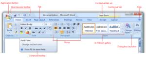 典型的Office 2007功能区