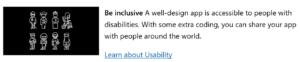 Fluent Design建议Be Inclusive(要考虑到特殊人士)